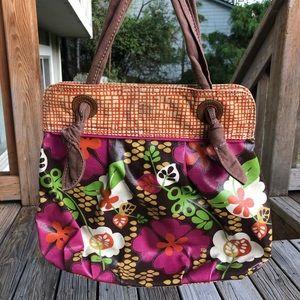 Fossil Keyper Handbag Tote Bag Bright Flowers